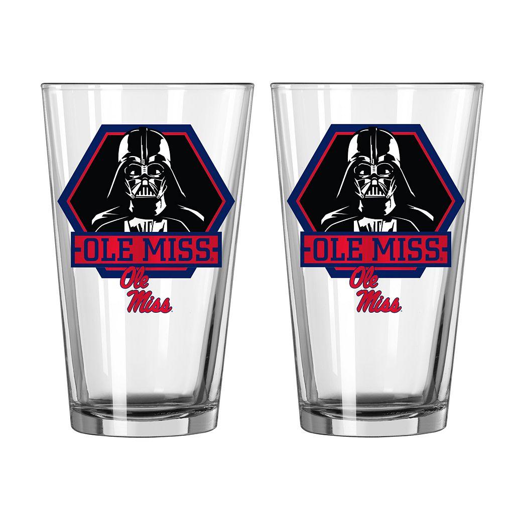 Boelter Ole Miss Rebels Star Wars Darth Vader 2-Pack Pint Glasses