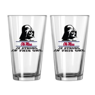 Boelter Ole Miss Rebels Star Wars Darth Vader 2-Pack Pint Glasses
