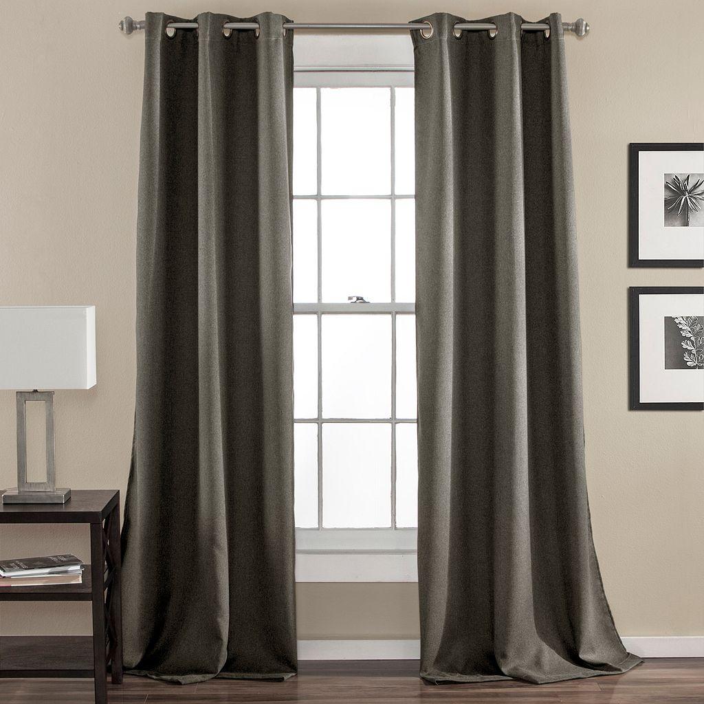 Lush Decor 2-pack Darcie Linen Blend Room Darkening Window Curtains