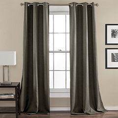 Lush Decor 2-pack Darcie Linen Blend Room Darkening Window Curtains