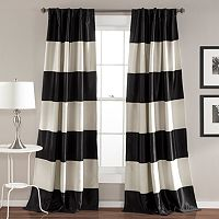 Lush Decor 2-pack Montego Wide Stripe Blackout Curtain Set