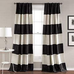 Lush Decor 2-pack Montego Wide Stripe Blackout Window Curtains