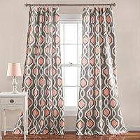 Lush Decor 2-pack Iron Gate Geometric Room Darkening Window Curtains