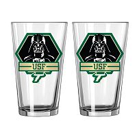 Boelter South Florida Bulls Star Wars Darth Vader 2-Pack Pint Glasses