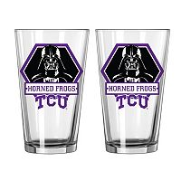 Boelter TCU Horned Frogs Star Wars Darth Vader 2-Pack Pint Glasses