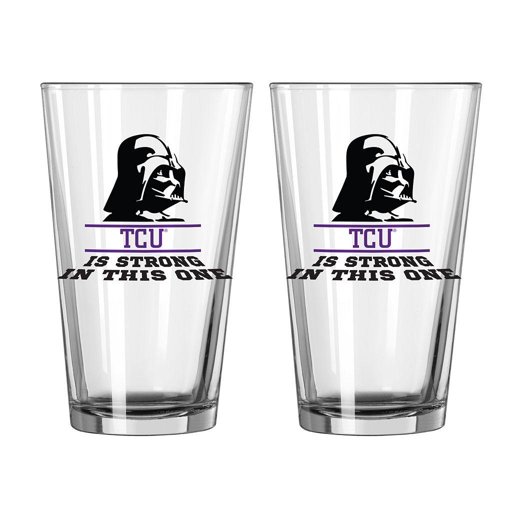 Boelter TCU Horned Frogs Star Wars Darth Vader 2-Pack Pint Glasses