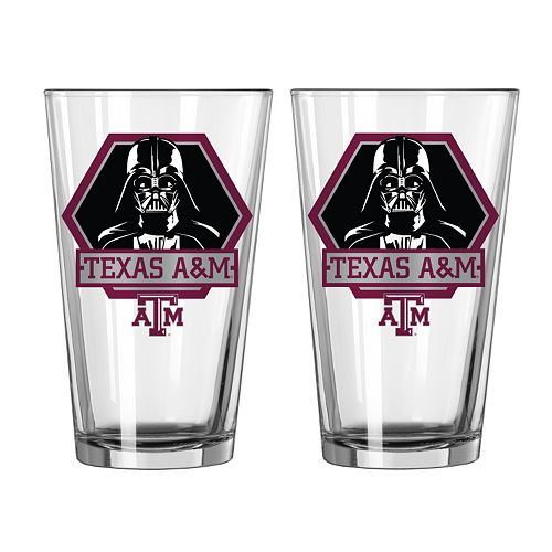 Boelter Texas A&M Aggies Star Wars Darth Vader 2-Pack Pint Glasses