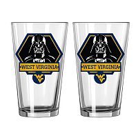 Boelter West Virginia Mountaineers Star Wars Darth Vader 2-Pack Pint Glasses