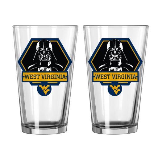 Boelter West Virginia Mountaineers Star Wars Darth Vader 2-Pack Pint Glasses