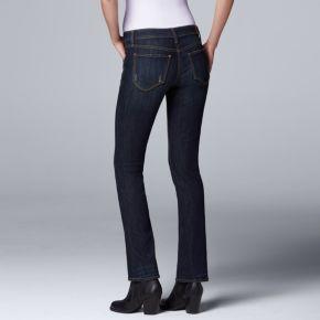 Petite Simply Vera Vera Wang Modern Fit Bootcut Jeans