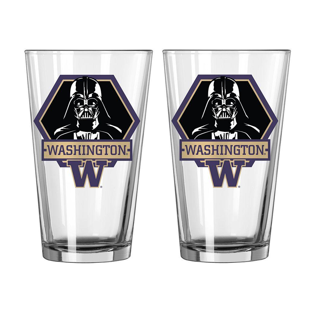 Boelter Washington Huskies Star Wars Darth Vader 2-Pack Pint Glasses