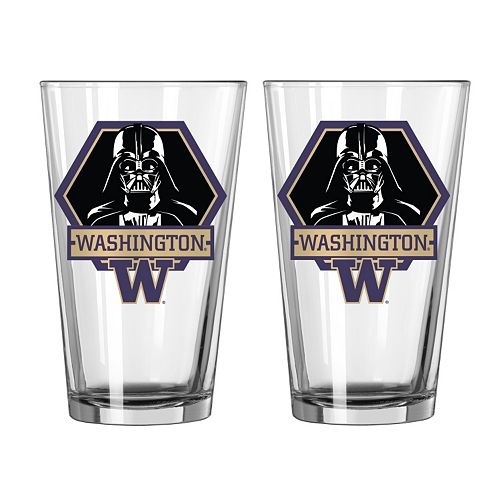 Boelter Washington Huskies Star Wars Darth Vader 2-Pack Pint Glasses