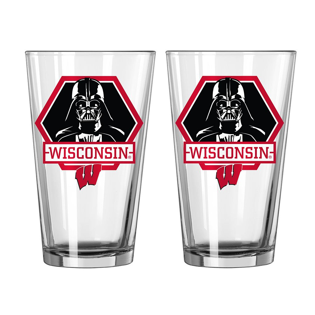 Boelter Wisconsin Badgers Star Wars Darth Vader 2-Pack Pint Glasses