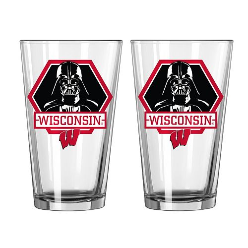 Boelter Wisconsin Badgers Star Wars Darth Vader 2-Pack Pint Glasses