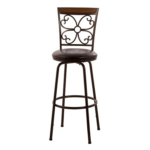 Hillsdale Furniture Garrison Adjustable Swivel Bar Stool