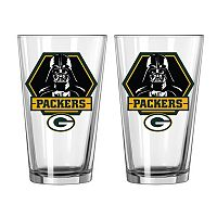 Boelter Green Bay Packers Star Wars Darth Vader 2-Pack Pint Glasses