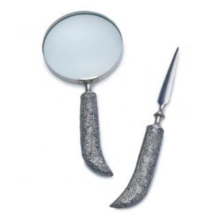 Bombay™ Scroll Letter Opener & Magnifying Glass 2-piece Set
