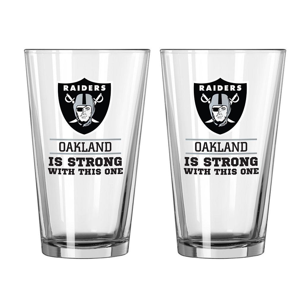 Boelter Oakland Raiders Star Wars Darth Vader 2-Pack Pint Glasses