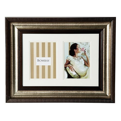 "Bombay™ 2-opening 5"" x 7"" Bronze Finish Collage Frame"