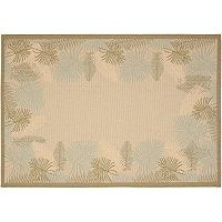 Safavieh Courtyard Palmaire Framed Indoor Outdoor Rug