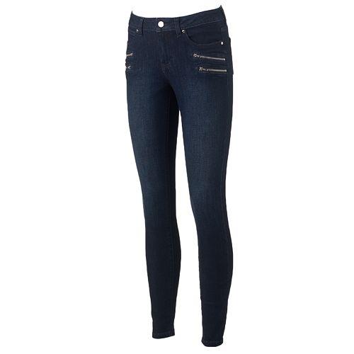 Women's Jennifer Lopez Zipper-Accent Skinny Jeans