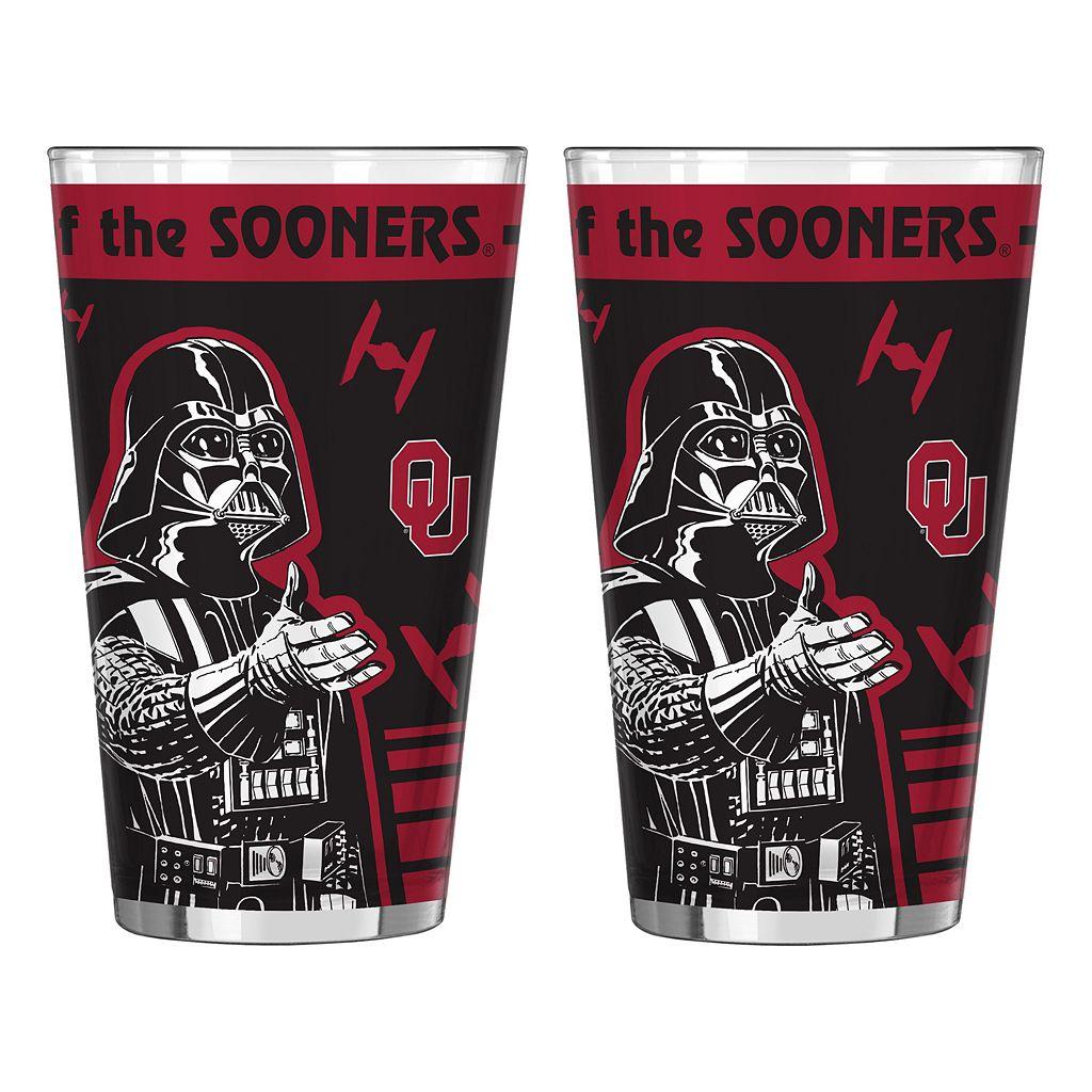 Boelter Oklahoma Sooners Star Wars 2-Pack Pint Glasses