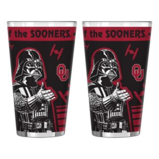 Boelter Oklahoma Sooners Star Wars 2-Pack Pint Glasses