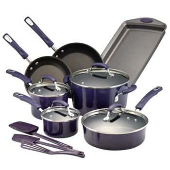 Rachael Ray Brights 14-pc. Cookware Set + $15 Kohls Cash