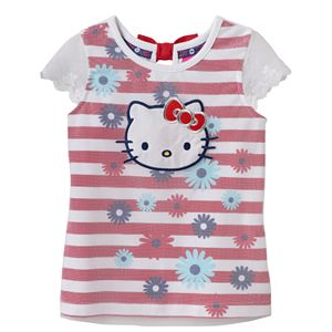 Girls 4-6x Hello Kitty® Mesh Floral Top