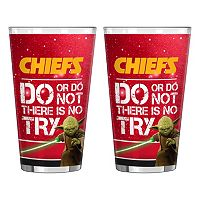 Boelter Kansas City Chiefs Star Wars 2-Pack Pint Glasses