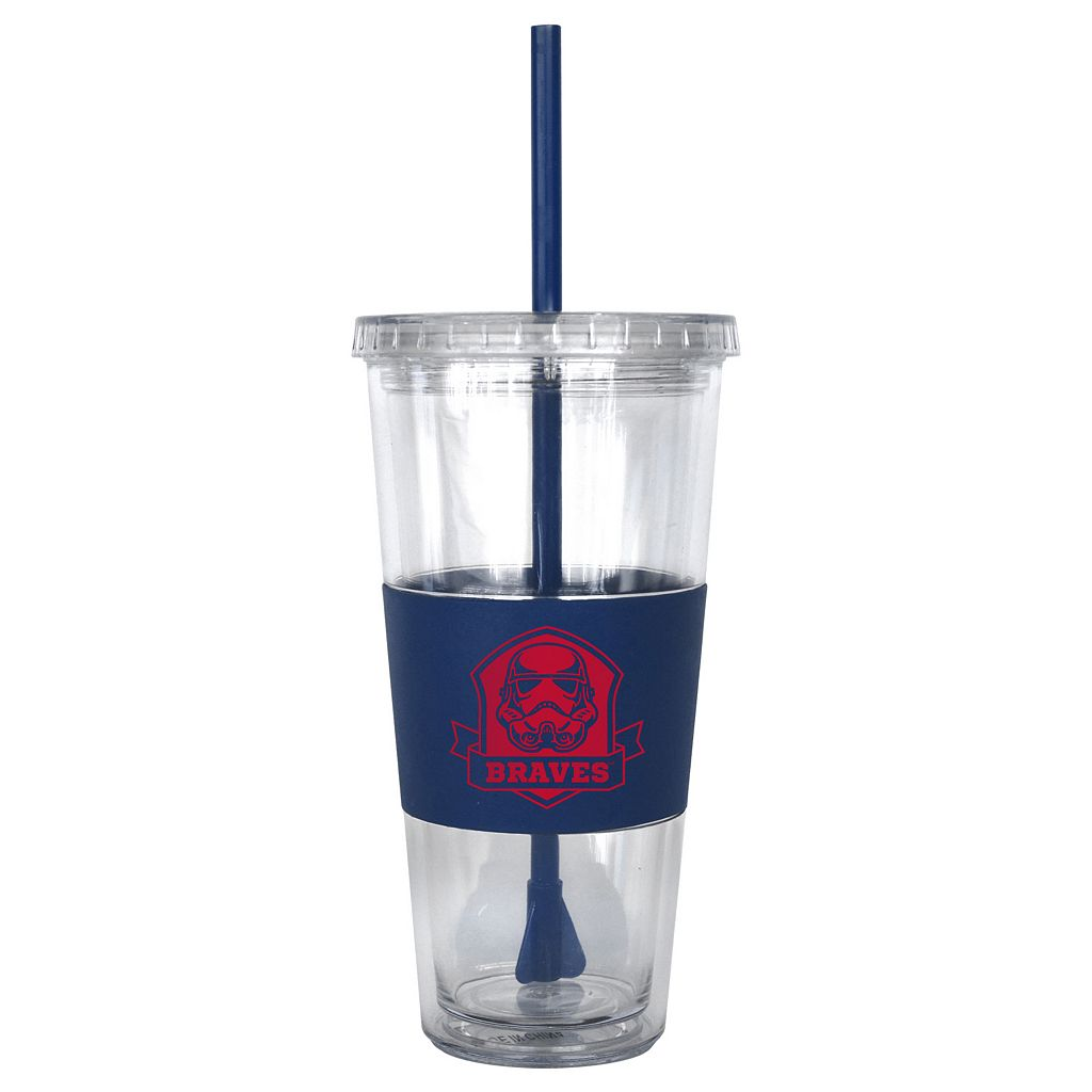 Boelter Atlanta Braves Star Wars Stormtrooper Straw Tumbler