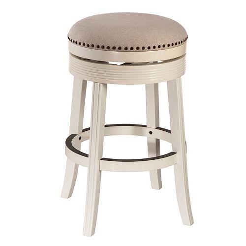 Hillsdale Furniture Tillman White Swivel Counter Stool