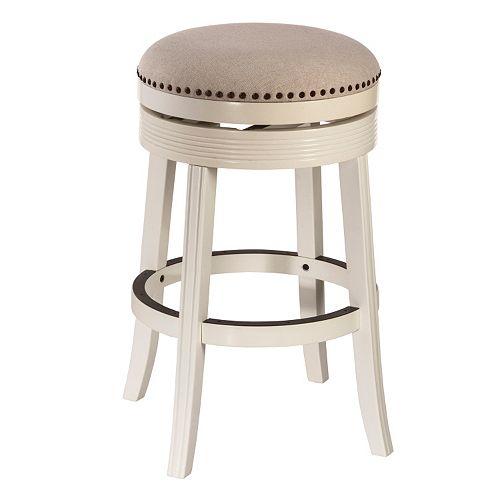 Hillsdale Furniture Tillman White Swivel Bar Stool