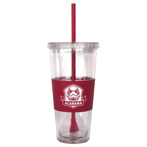 Boelter Alabama Crimson Tide Star Wars Stormtrooper Straw Tumbler