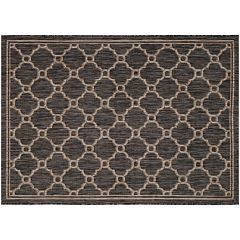 Safavieh Courtyard Irongate Lattice Indoor Outdoor Rug