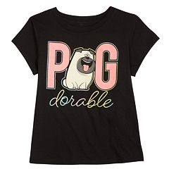 Girls 4-6x The Secret Life of Pets Mel 'Pug-dorable' Tee