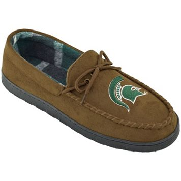 Men's Wide-Width Michigan State Spartans Microsuede Moccasins