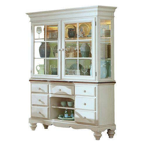 Hillsdale Furniture Pine Island Buffet Table & Hutch