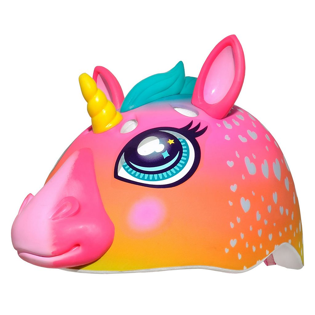 Girls C Preme Raskullz Super Rainbow Unicorn Bike Helmet