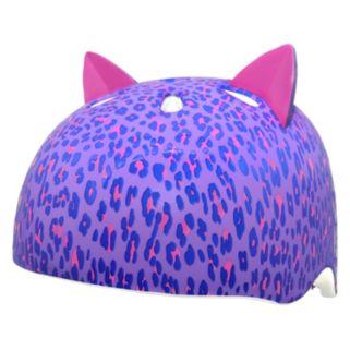 Girls C Preme Raskullz Leopard Kitty Pur Bike Helmet