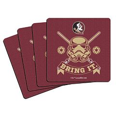 Boelter Florida State Seminoles Star Wars Stormtrooper 4-Pack Coasters