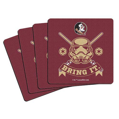 Boelter Florida State Seminoles Star Wars Stormtrooper 4-Pack Coasters