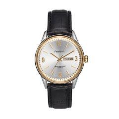 mens armitron analog watches watches kohl s armitron men s two tone leather watch 20 5048svttbk