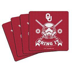 Boelter Oklahoma Sooners Star Wars Stormtrooper 4-Pack Coasters