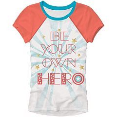 Girls 4-6x Marvel Captain America 'Be Your Own Hero' Tee