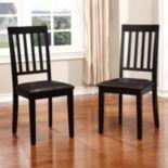 Linon Cayman Dining Chair 2-piece Set