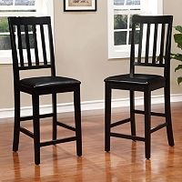 Linon Cayman Counter Chair 2-piece Set