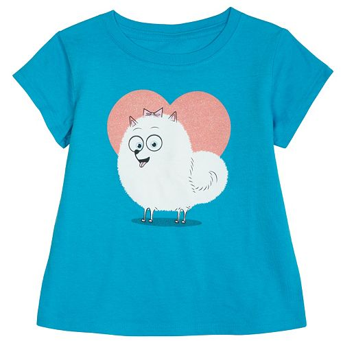 Girls 4-6x The Secret Life of Pets Gidget Heart Tee