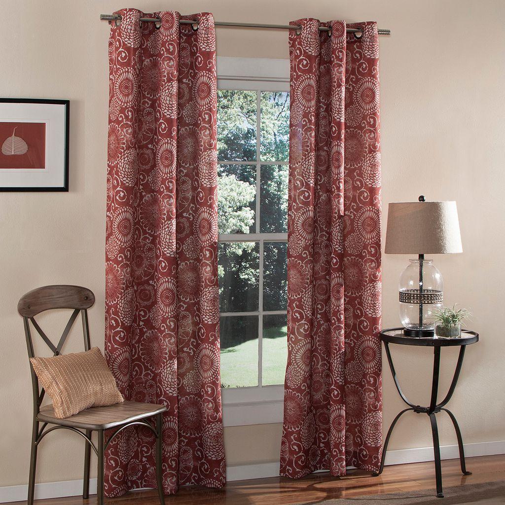 m.style 2-pack Batik Window Curtains