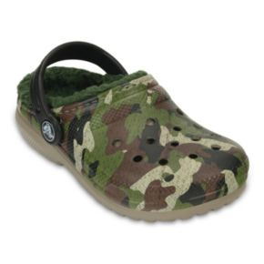 Crocs Classic Lined Kids' Camouflage Clogs